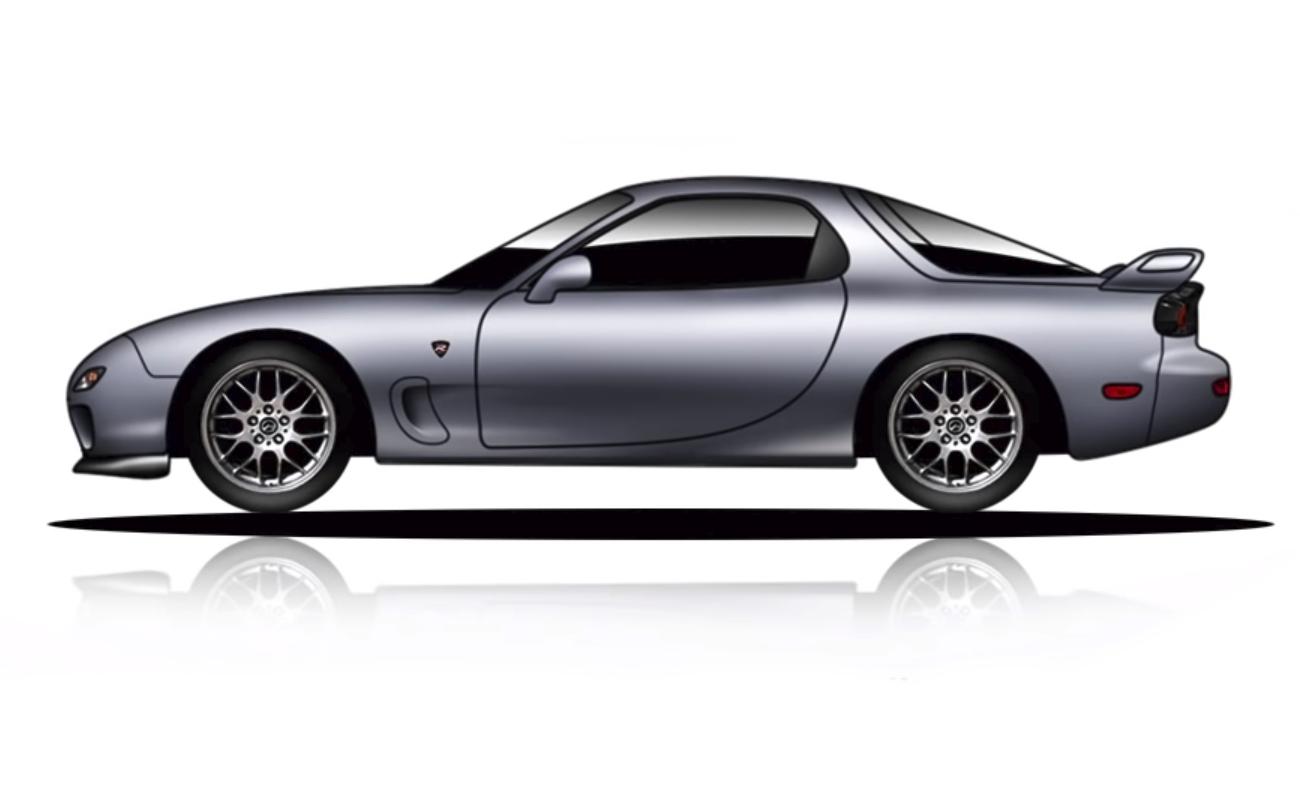 Эволюция Mazda RX-7 за 4 минуты видео