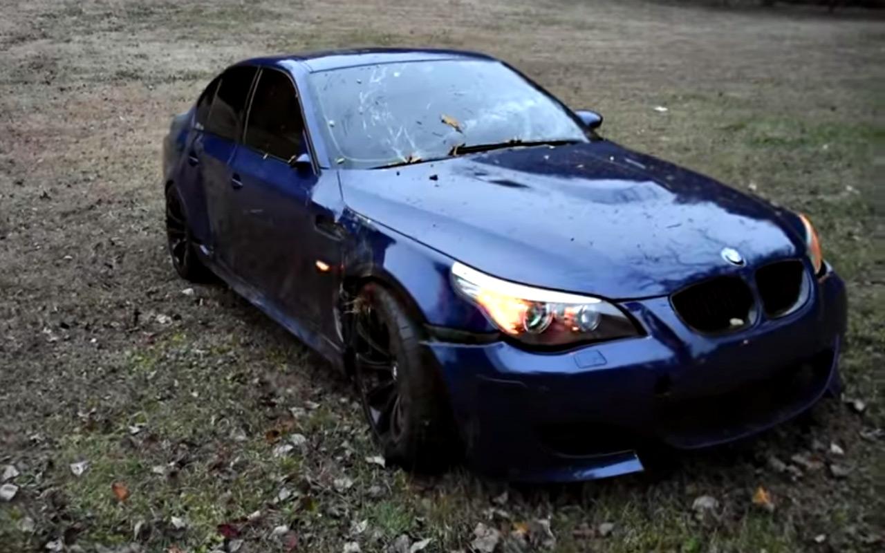 История неудачи любимого BMW: покрасил иразбил