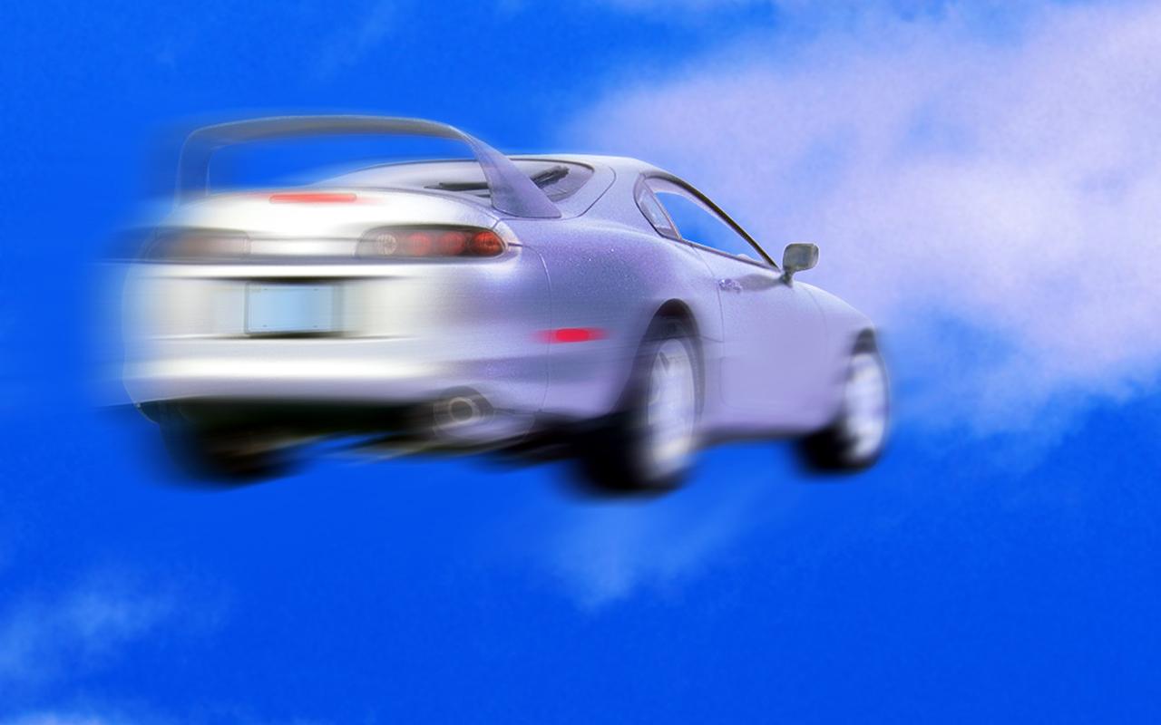 Летающий автомобиль: фотоиллюзия или нет?