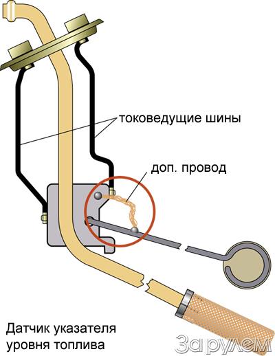 Ваз 21213 схема указателя топлива