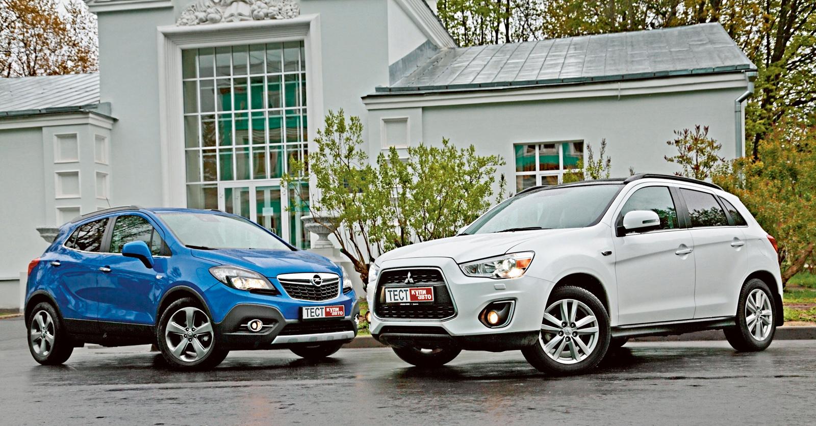 Opel Mokka против Mitsubishi ASX - сравнительный тест - журнал За рулем