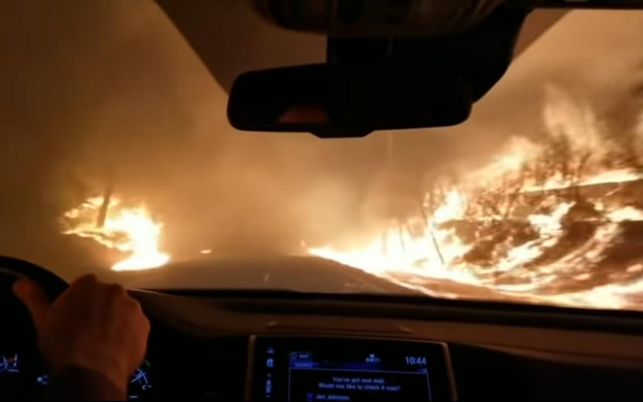 Побег из Рая сквозь пламя ада попал на видео