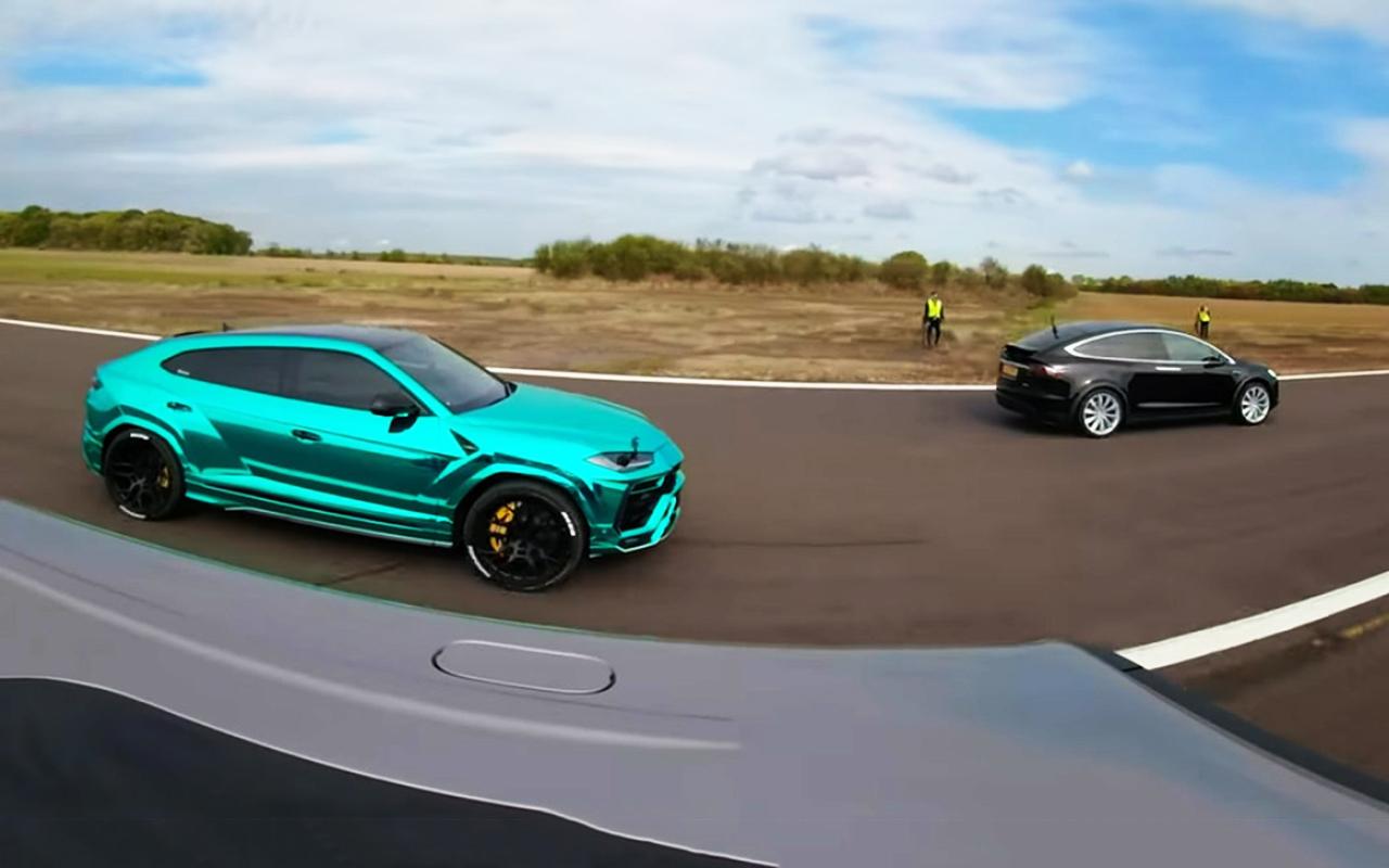 Кто быстрее: Tesla Model X, Lamborghini Urus или взбешенный «Гелик»?