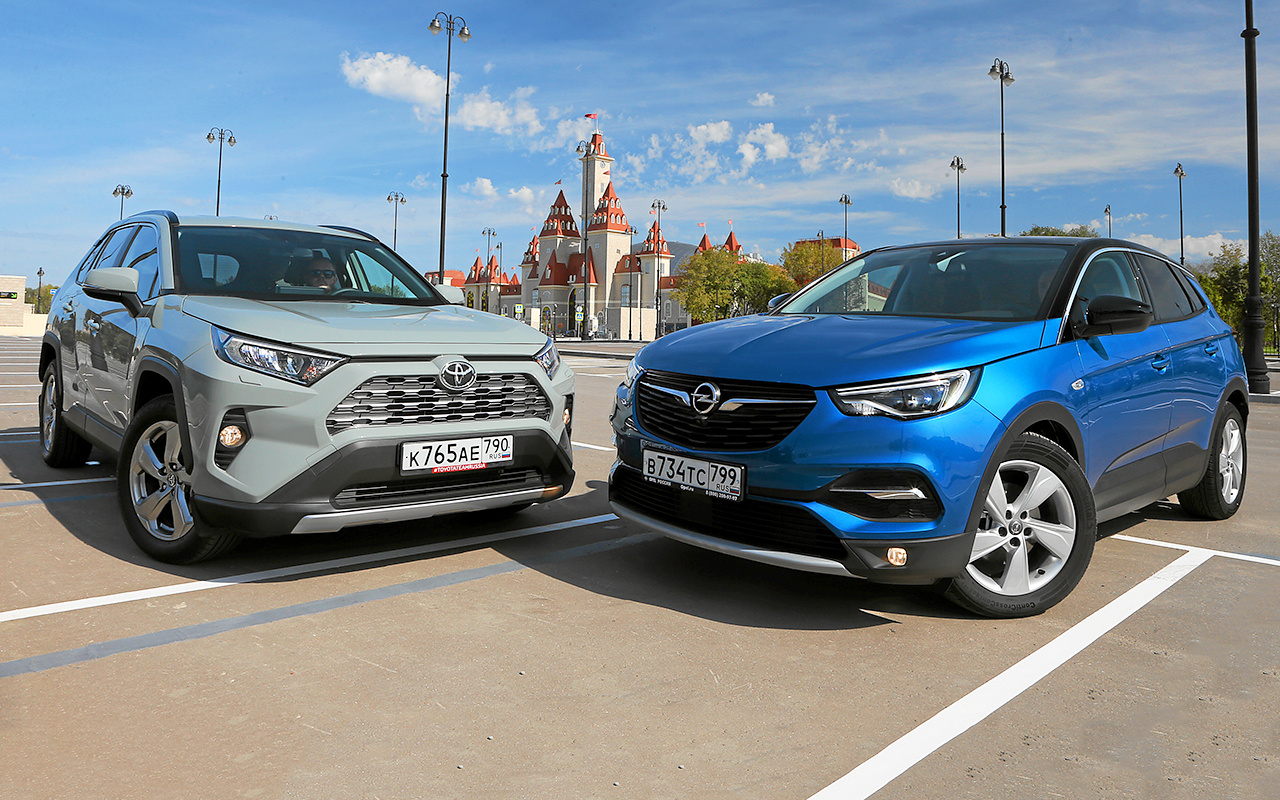 Toyota RAV4 и Opel Grandland X — большой тест