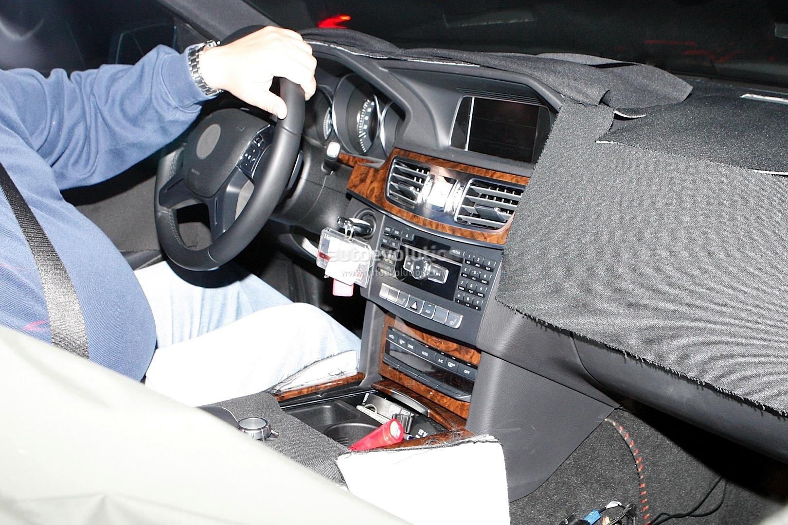 Новый мерседес e-класса засветился в легком камуфляже - сайт за рулем wwwzrru